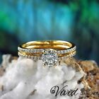 Round Diamond Engagement Ring Size 7.5 14k Yellow Gold 1.06 CT VVS D-F Enhanced