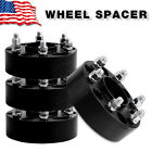 "4X 1.5"" inch Black 5x5 Jeep Hubcentric Wheel Spacers JK Wrangler Grand Cherokee"