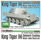 1/35 Scale resin model kit King Tiger [H] Zimmerit Decal set