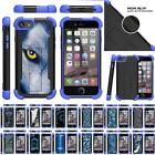 """For Apple iPhone 7 Plus Case (5.5"""") Dual Hybrid Stand Defender Blue Cover"""