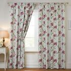 STYLISH PENCIL PLEAT TAPE TOP FLORAL PATTERN BLACKOUT PINK COLOUR NEW CURTAINS