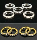 Clear Crystal Rhinestone Finger / Toe RING Stretch fit 1 - 2 row Silver or Gold