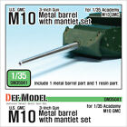 US M10 3-inch Gun Metal barrel with mantlet set ( for 1/35 Academy )