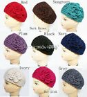 Crochet Head Wrap with Flower - Pick Your Color (697)
