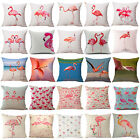 Cute Animal Flamingo Cotton Linen Pillow Case Cushion Cover Fashion Home Decor