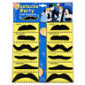 12 Pack Self Adhesive Assorted Fake Moustache Mustache Set Fancy Dress Party T1