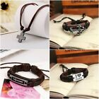 Christian Leather Bracelets Men's Women's I Love Jesus Cross Fashion Jewelry
