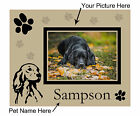 DOG PICTURE FRAME PERSONALIZED SMALL TO LARGE BREEDS BRAND NEW 20 X 25cm