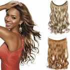 120G  Body Wavy HUMAN REMY HALO SECRET INVISIBLE WIRE HAIR EXTENSIONS 28CM Width