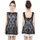 Ladies Sexy Black Lace Backless Summer Cocktail Party Short Mini Dress Sundress