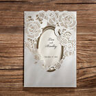 White Hollow Lace Personlize Laser Cut Wedding Party Invitations With Envelopes