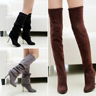 Woman Over The Knee Boots stiletto Stretch Knee High Boots High heel Shoes Pumps