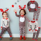 "Vaenait Baby Kids Boys Girls Clothes Pajama Set ""Winter Santa Rudolph"" 12M-7T"
