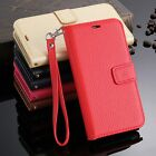 Luxury  Real Leather Stripe Frame  Pattern Card Case Cover For Samsung Galaxy S6