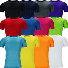 New Mens Breathable T Shirt Wicking Cool Running Gym Top Sports Performance Lot