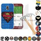 For Samsung Galaxy S5 Active G870 G870A 2X Glass Film Hard Case Cover Batman Owl