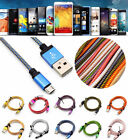 1M Micro USB A to USB 2.0B Braided Data&Sync Charger Cable For Android Universal