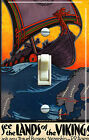 Land of VIKINGS Vintage Travel Poster Single/Double Switch Plate *FREE SHIPPING*