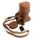 Bottom Opening PU Leather Full Camera Case For Nikon D7200 with 18 - 300mm Brown