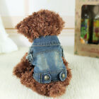 Soft Pet Vest Jacket Clothes Dog Waistcoat Denim Coat Dress Apparel Winter Warm