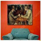 CANVAS +GIFT Card Players Paul Cezanne Wall Art Paints Poster Posters Giclee