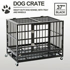 """37"""" 48"""" Dog Cage Crate Heavy Duty Kennel Metal Playpen Pet Exercise Pen & Tray"""