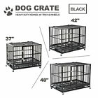 "37"" 48"" Dog Cage Crate Heavy Duty Kennel Metal Playpen Pe..."