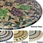 Elasticized Tablecloths Table Cover Marble Wood Stained Glass Fitted Cover NEW