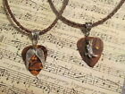 His Angel or Her Cowboy Brown Leather Guitar Pick Necklace!