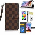 Luxury-Vintage-Leather-Flip-Case-Wallet-Cover-Stand-For-samsung S6 S6 edge plus