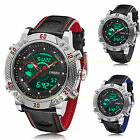 OHSEN Mens Big Case Military Army Digital Leather Sport Quartz Watch WaterProof