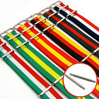Tough Nylon Military Thread-Thru Watch Band Strap National Flag Colours 18-22mm