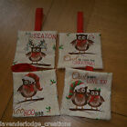 Christmas Decorations.Fun Owl Designs To Hang on Tree. Lavender Filled OR Padded