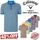 CALLAWAY GOLF POLO SHIRTS CHEV STRIPE MENS GOLF POLO SHIRTS *NEW 2016* ALL SIZES