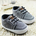 Newborn Baby Toddler infant Boys Soft Sole New prewalker Crib Shoes 0-18 Month