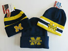 USA Sports University Of Michigan Wolverines NCAA Mütze Beanie Bommel TOP SALE