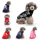 Christmas Winter Warm Pet Sweater Coat Knitting Crochet Funny Clothes for Dog