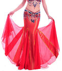 New Belly Dance Costume Long Fishtail Performances Skirt Dressno belt 10color