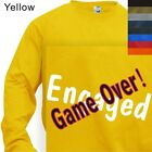 MEN'S T-SHIRT LONG SLEEVE ENGAGED GAME OVER #180-S to 4XL PLUS