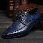 Men's Genuine Cow Leather Shoes Classic Dress Formal D333 Black Blue Size 5~9~11