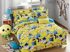 New 2016 Despicable Me Gru Minions Bedding Set 4pc Queen King Yellow Size RARE