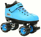 Riedell Blue Dart Quad Roller Derby Speed Skates Bonus 2 Pair Laces Blue & Black