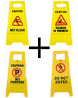 Caution Slippery Surface Warning Hazard Safety Free Standing Cleaning sign