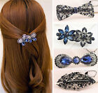 Vintage Women's Rhinestone Flower Metal Hair Pin Barrette Hairpin Clip