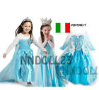 Vestito Frozen  Carnevale Costume Dress Bambina Elsa Bimba Travestimento New