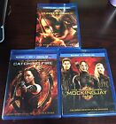 3 Parts  Bluray  DVD  set of:Hunger Game, Catching Fire New , Mockingjay Part 1