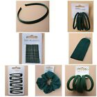 Girls Hair Accessories School Bottle Green Elastics Bands Scrunchies Clips Etc