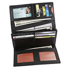 FancyStyle Women RFID Blocking Wallet Genuine Leather Trifold Clutch Black Red