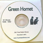 Green Hornet 1 CD 91 Shows-Old Time Radio-1938-1952-Detective ONLY $4.99
