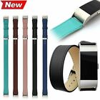 Luxury Genuine Leather Band Long Double Tour Strap Watchband For Fitbit Charge 2